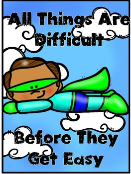 SUPERHERO....Positive Growth Mindset Posters & Coloring Pages