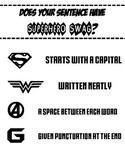 SUPERHERO SWAG Sentence Anchor Chart