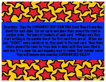 #4onthe4th SUPERHERO Skip Counting by 5s Packet