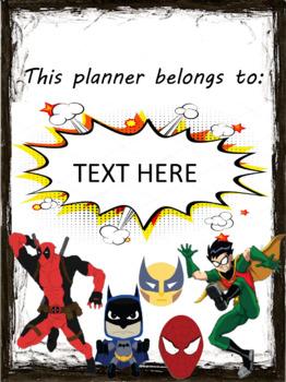 SUPERHERO TEACHER PLANNER/BINDER - EDITABLE - DIGITAL