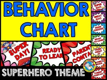 SUPERHERO THEME BEHAVIOR CHART: BACK TO SCHOOL BEHAVIOR MANAGEMENT CHART