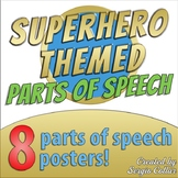 SUPERHERO THEMED - Parts of speech posters