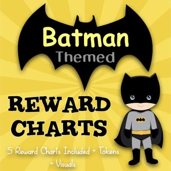 Batman Themed Reward Charts - IDEAL for Positive Reinforcement