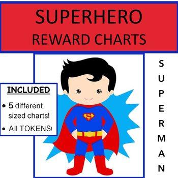 SUPERHERO THEMED REWARD CHARTS - Superman