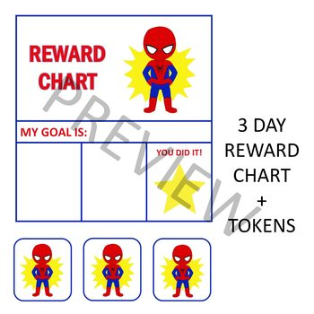 SUPERHERO THEMED REWARD CHARTS - SPIDERMAN