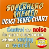 SUPERHERO THEMED - Voice level chart - Bilingual