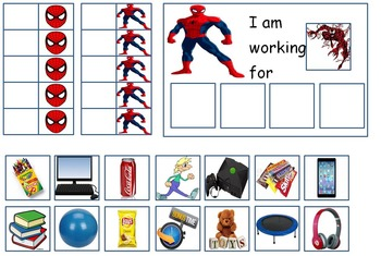 Autism SUPERHERO TOKEN BOARDS Spiderman Batman Hulk And Superman