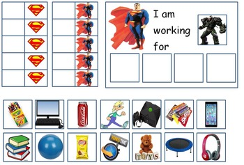 Autism: SUPERHERO TOKEN BOARDS (Spiderman, Batman, Hulk, and Superman)