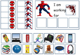 Autism: SUPERHERO TOKEN BOARDS (Spiderman, Batman, Hulk, and Superman)