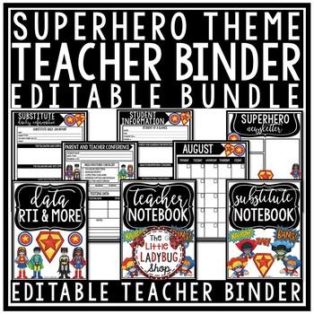 Superhero Teacher Binder • Superhero Binder • Superhero Planner