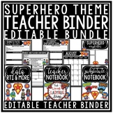 Superhero Teacher Binder Editable- Newsletter Template, Yearly Planner & More