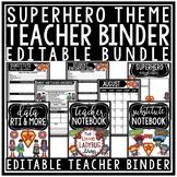 Superhero Teacher Binder Editable- Newsletter Template Editable Superhero Theme
