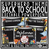 Superhero Back To School PowerPoint for Open House and Meet The Teacher