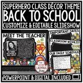 Superhero Theme Back To School Open House- Meet The Teacher Template Editable