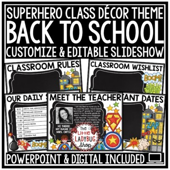 superhero powerpoint template teaching resources teachers pay teachers
