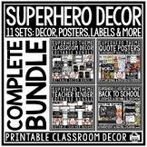 Superhero Theme Classroom Decor -Editable Superhero Classroom Bulletin Board