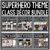 Superhero Classroom Theme Decor Bundle: Growth Mindset Posters, Meet the Teacher