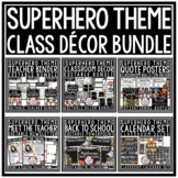 Superhero Classroom Theme Decor Bundle Motivational Poster