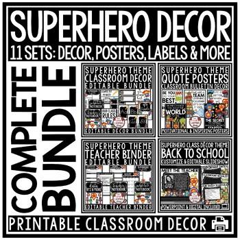 Superhero Classroom Decor • Superhero Theme