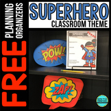 SUPERHERO Theme Decor Planner by Clutter Free Classroom