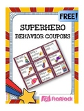 SUPERHERO Themed Behavior Reward Coupons FREEBIE