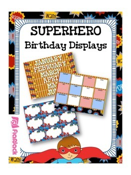 SUPERHERO Themed Birthday Displays