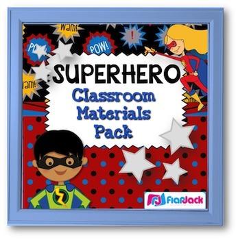 SUPERHERO Themed Classroom Decor Materials Pack