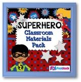 SUPERHERO Themed Classroom Decor Bundle