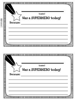 SUPERHERO Themed Classroom Management Pack