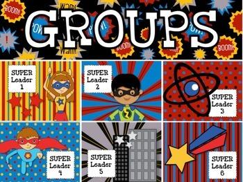 SUPERHERO Themed Grouping Cards