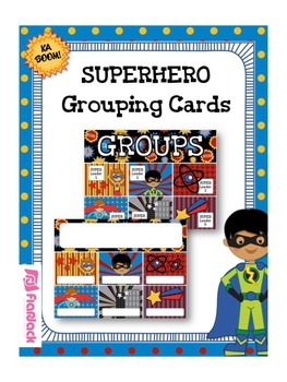 SUPERHERO Themed Grouping Cards