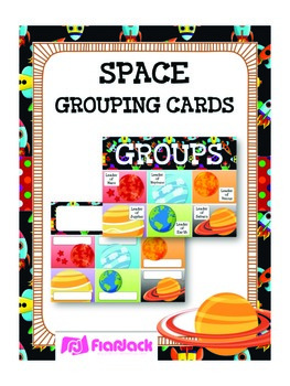 SPACE Themed Grouping Cards