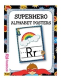 SUPERHERO Themed Manuscript Alphabet Posters