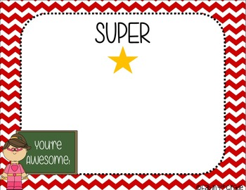 SUPERHERO Themed Positive Notecards