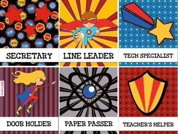 SUPERHERO Themed Student Jobs Display