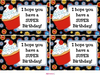 SUPERHERO Themed Student Message Cards (Postcards)