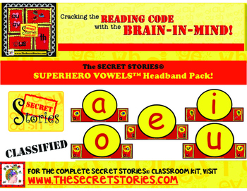 SUPERHERO VOWELS® Headband Pack (from the SECRET STORIES®
