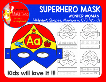 SUPERHERO WONDER WOMAN MASK