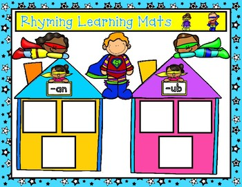 SUPERHERO Word Family and Rhyming Center:  Back to School