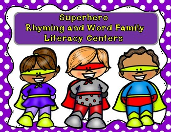 SUPERHERO Word Family and Rhyming Center