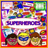 SUPERHEROES - LITERACY DISPLAY EYFS KEY STAGE 1-2 ROLE PLAY