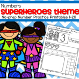 SUPERHEROES Numbers 1-20 NO PREP