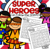 SUPERHEROES Shapes Recognition Maze - 11 Shapes