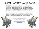 SUPERMARKET NAME GAME