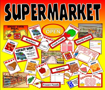 SUPERMARKET ROLE PLAY TEACHING RESOURCES KS1-2 FOOD SCIENC