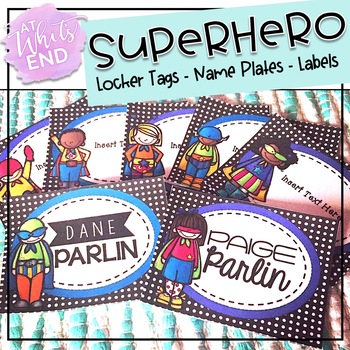 SUPERhero EDITABLE Labels and Desk Tags {Back to School Pr