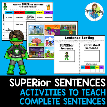 SUPERior Sentences: Activities for Making Complete Sentences