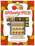 SUPERmarket SPEECH! - A Cut & Paste Articulation Activity