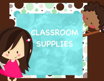 Classroom Labels SUPPLIES