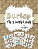 SUPPLY LABELS  Burlap